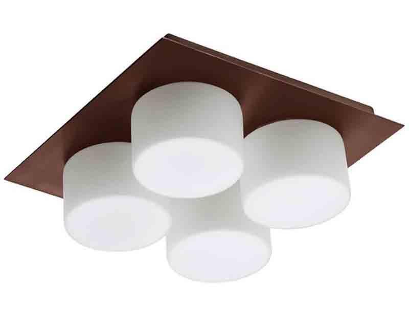 Dainolite 82553 Obb 4lt Ceiling Wall Light W Frosted Rnd Gl