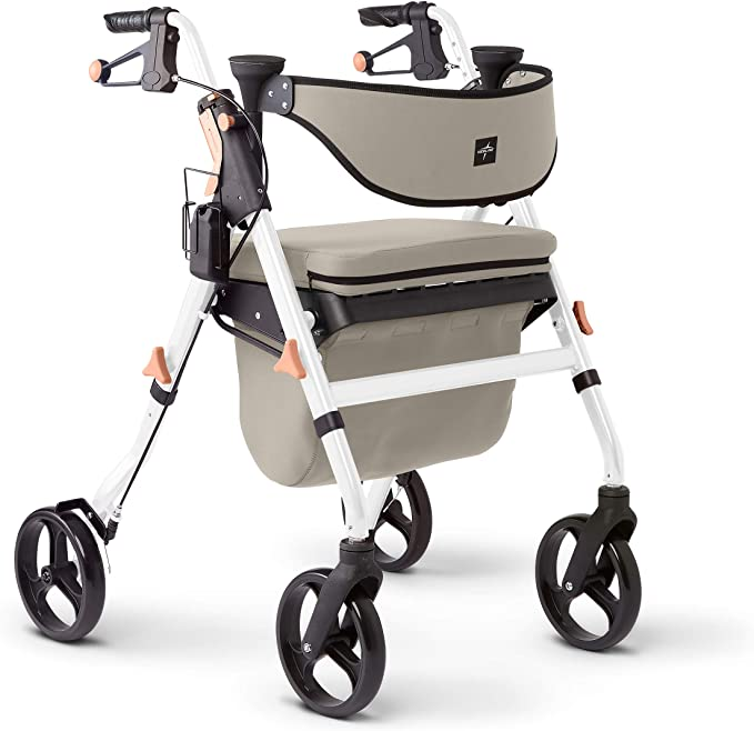 Medline Premium Empower Rollator Walker with