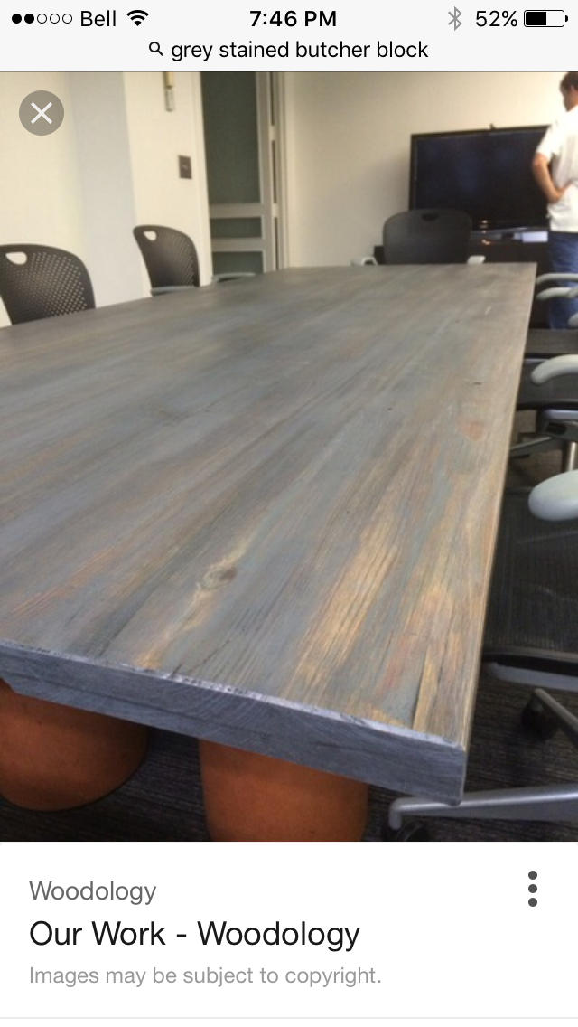 Best Grey Stained Butcher Block Counters Kitchen Bar 400 x 300