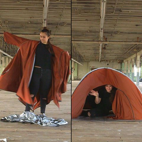This tent is also a jacket. Check ADIFF out on Kickstarter /  sc 1 st  Pinterest & This tent is also a jacket. Check ADIFF out on Kickstarter: http ...