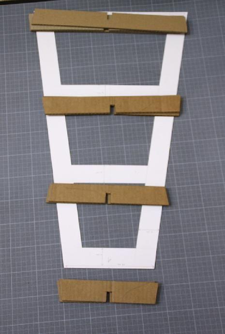 Tutoriel tabouret ou meuble d co en carton cr ations en carton cartonnage femme2decotv - Tutoriel meuble en carton ...