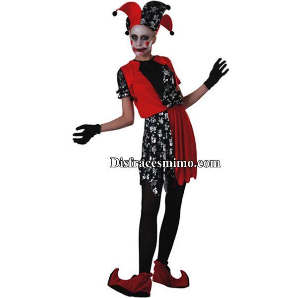 Tu mejor disfraz bufon de mujer.Con este terrorífico disfraz de Bufón de la  Muerte a7dd21129ba3
