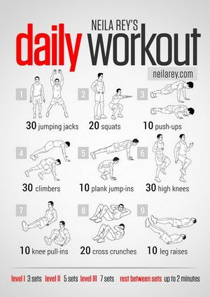 easy daily workout neilarey