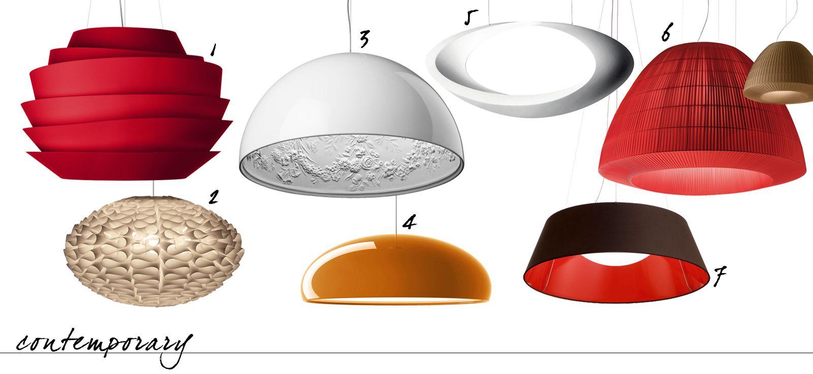 Lampade e lampadari a sospensione in tre stili diversi | Lampadari ...