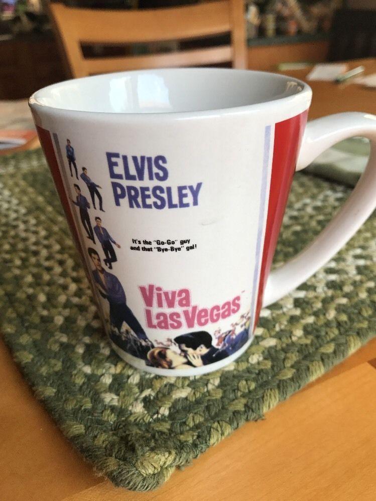 d6fa05dc5fb Elvis Presley Mug Cup Viva Las Vegas Elvis At The Movies King Rock 'n Roll    eBay