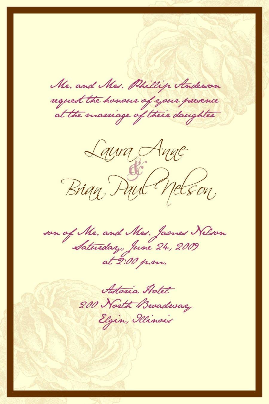 wedding invitation wording Google Search 41214 Pinterest