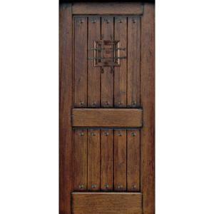 Main Door Rustic Mahogany Type Prefinished Distressed V Groove Solid Wood Speakeasy Entry Door Slab Sh 90 Wood Front Doors Rustic Front Door Wood Entry Doors