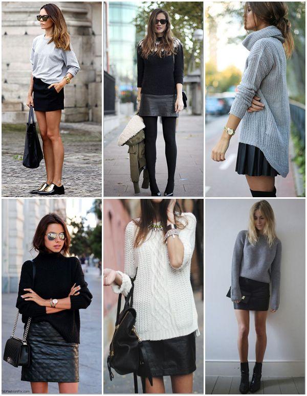 d8cde4555d falda negra look casual Cómo Combinar