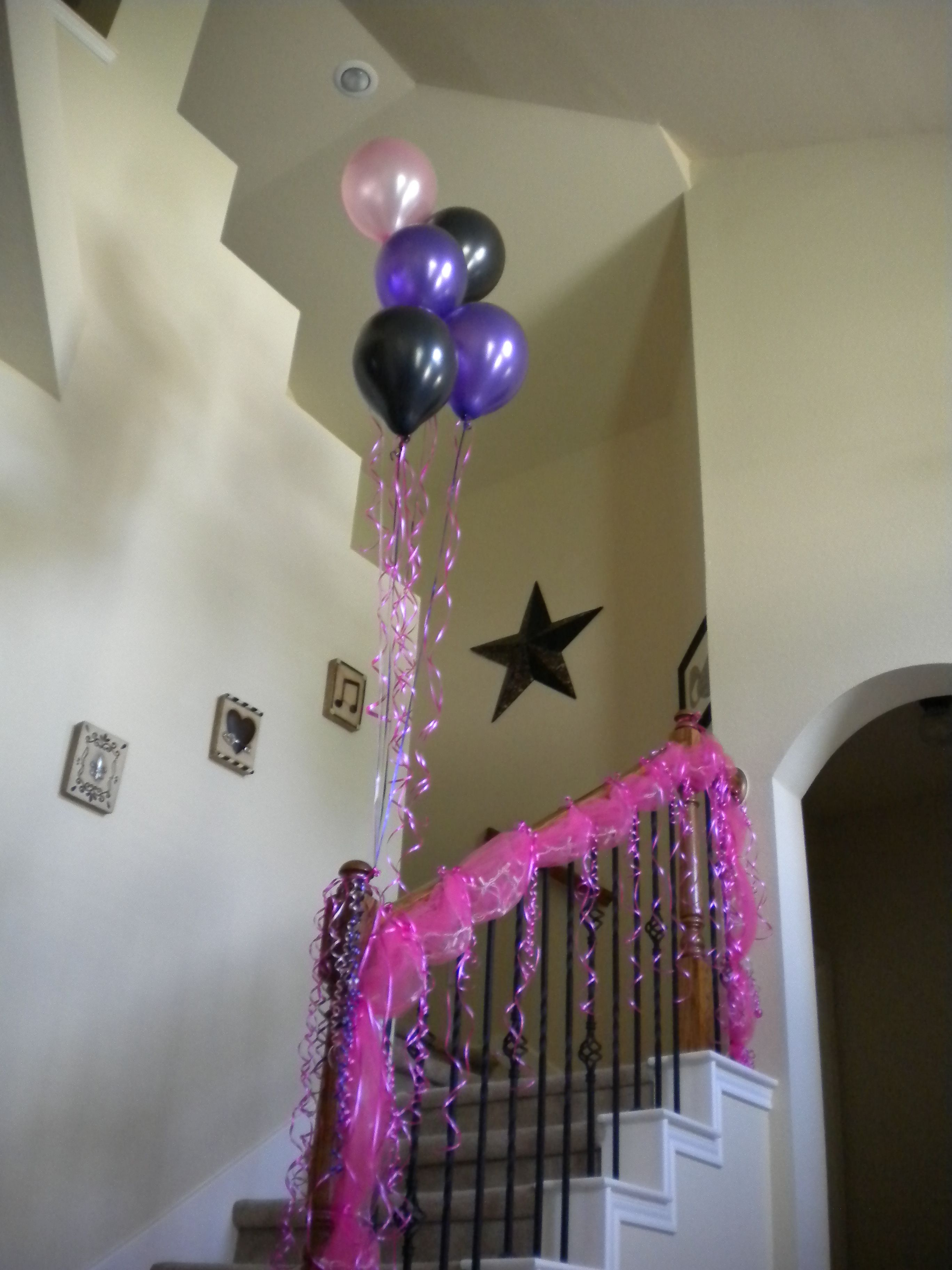 party decorations for staircase an easy way to add a fun pop of rh pinterest com