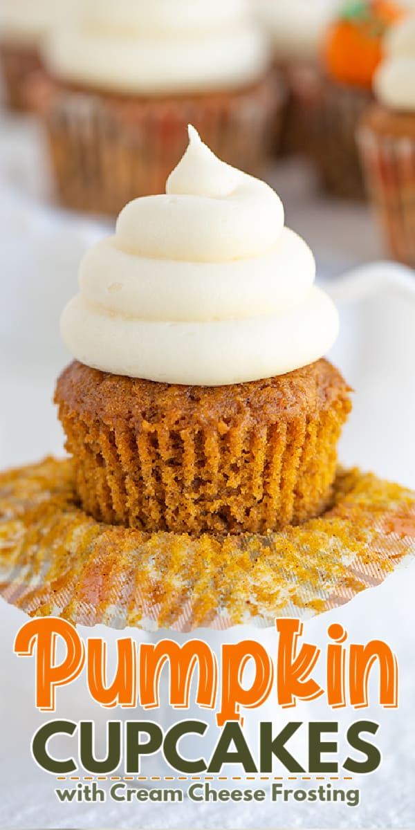Pumpkin Cupcakes with Cream Cheese Frosting Pumpki