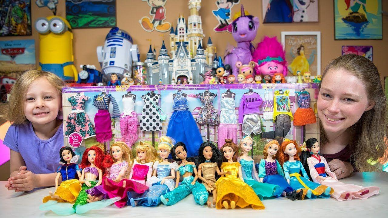 Disney Princess Dolls Dress Up Party Barbie Toys for Girls Surprise ...