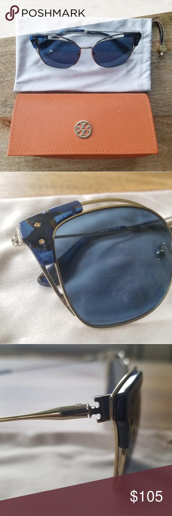6e32ee87e6d3 BRAND NEW Tory Burch Open-Wire Square Sunglasses A bold way to block the sun