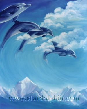 Star Dolphin Gallery - Dolphin Realm - 11 Cloud Dolphins