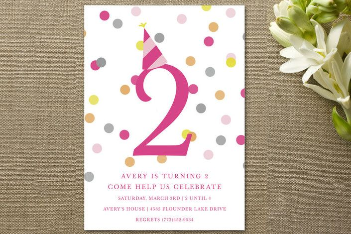 Confetti Fun Children's Birthday Party by Pretty G... at Minted.com