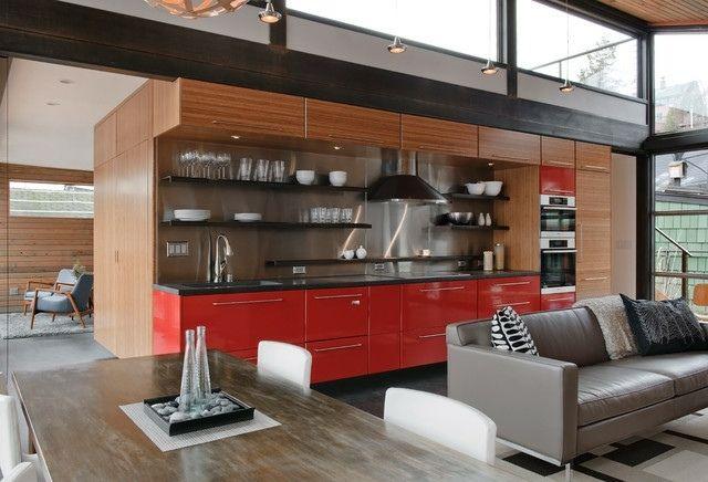 Wohnideen Wohnküche moderne küchenzeile wohnküche wohnideen firmenküche