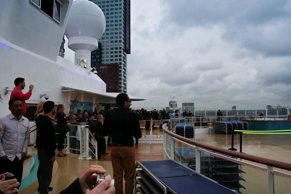 Sail Away party maiden voyage Norwegian Breakaway 26th of April leaving Rotterdam. Unfortunately rain...