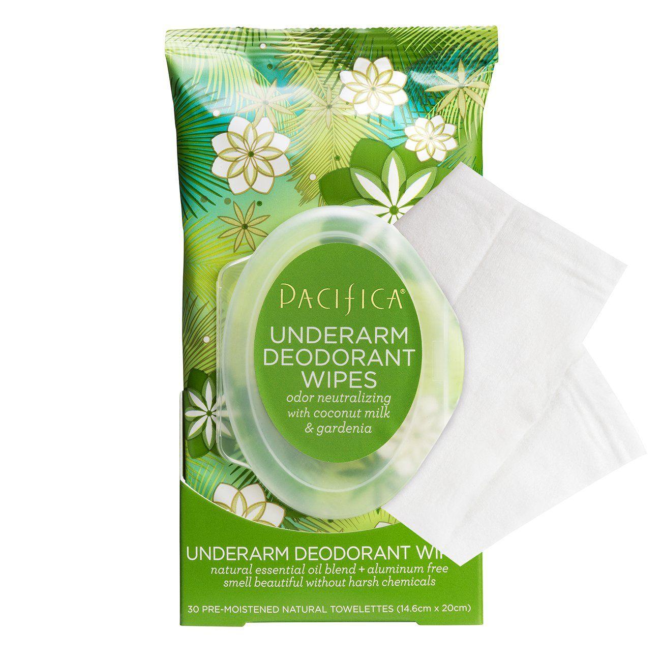 Coconut Gardenia Underarm Deodorant Wipes Pacifica Underarm