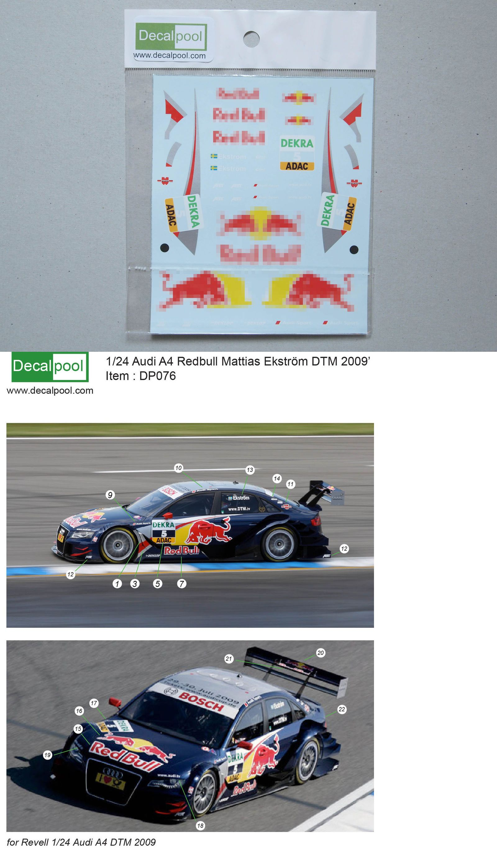 Decals 152927 1 24 Audi A4 Redbull Dtm 09 Option Decal For Revell Buy It Now Only 13 On Ebay Decals Redbull Option Decal Revell Audi A4 Revell Audi