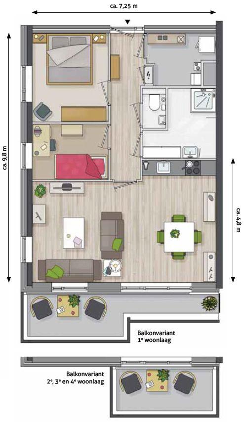 plattegrond ingerichte woonkamer - Google zoeken | Дом | Pinterest ...