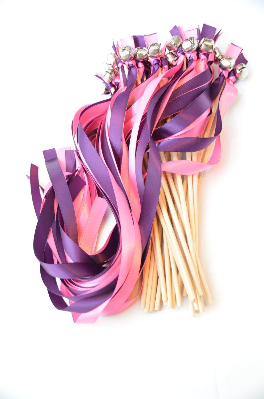 150 Ribbon Bell Wands ~ Wedding Ceremony ~ Send off Bells ~Wedding ...