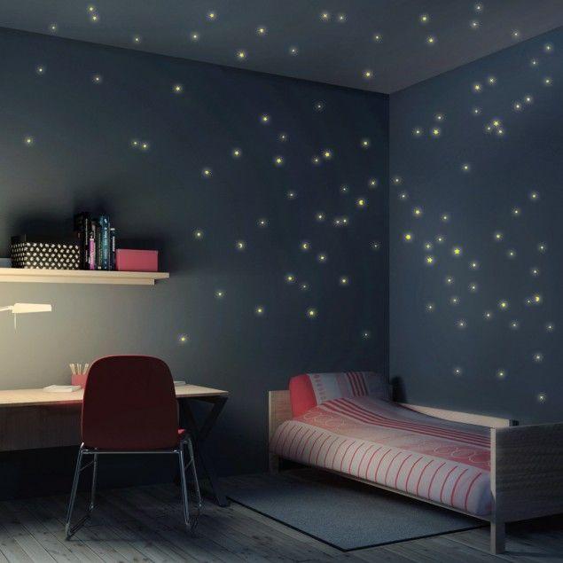 Wandtattoo #Kinderzimmer #Sternenhimmel 100er Set #Wantattoo - sternenhimmel im schlafzimmer