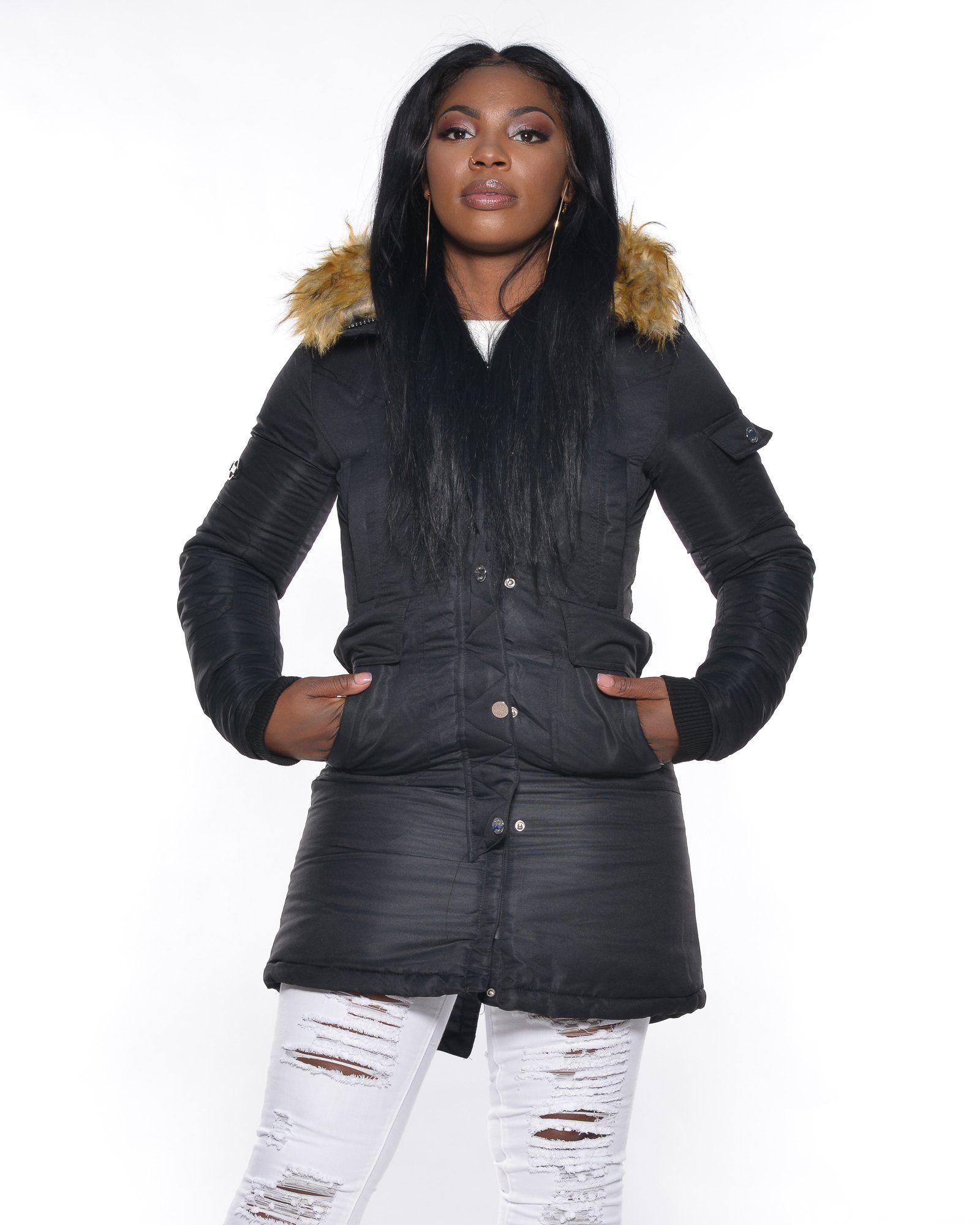 Fur Lined Hood Heavy Jacket Jackets, Heavy jacket