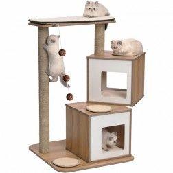 Rascador Para Gatos Vesper V-Doble Blanco