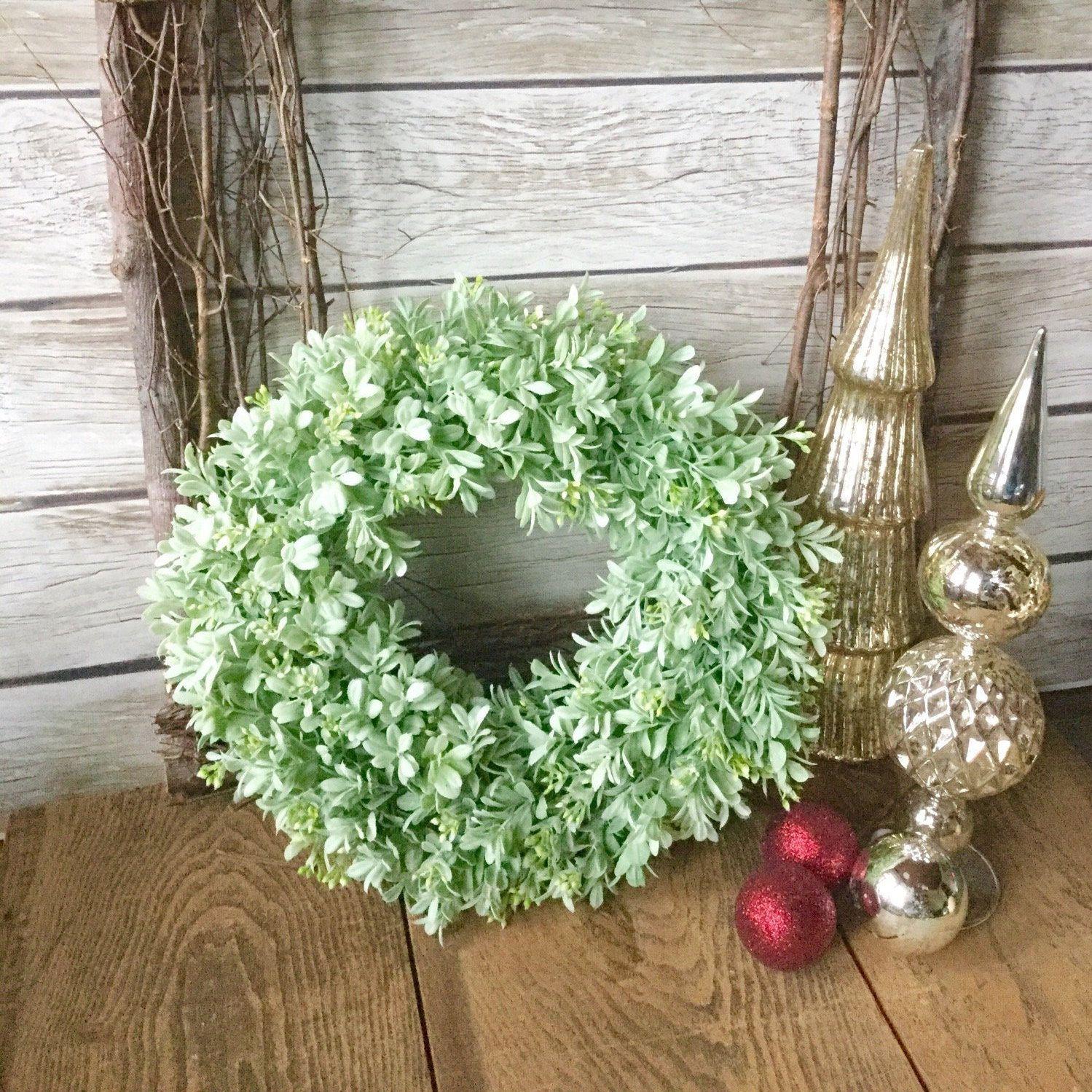 Flocked Boxwood Wreath Christmas Boxwood Wreath Artificial Boxwood Wreath Boxwood Decor Boxwood Wreath Christmas Artificial Boxwood Wreath Christmas Boxwood