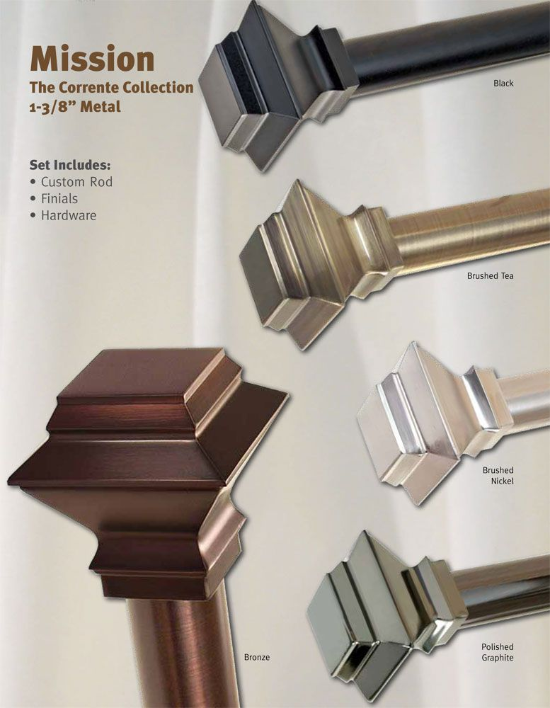 Curtain Rods Craftsman Style Windows Google Search Metal