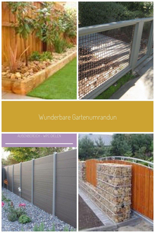 Wunderbare Gartenumrandung Zaun Holz Design Ideen Gardenia