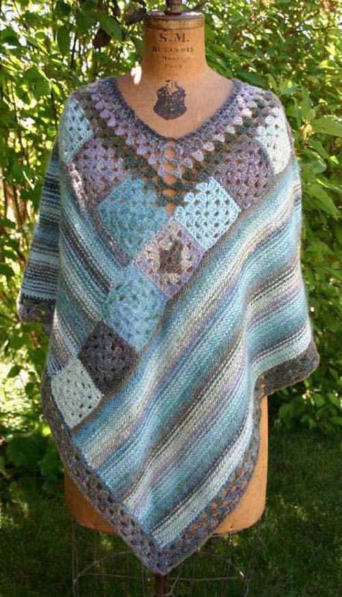 Pattern WWD62 Fusion Poncho by WeeziePants on Etsy, $5.00 | Crochet ...