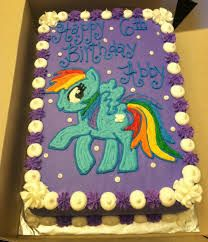 My Little Pony Sheet Cake
