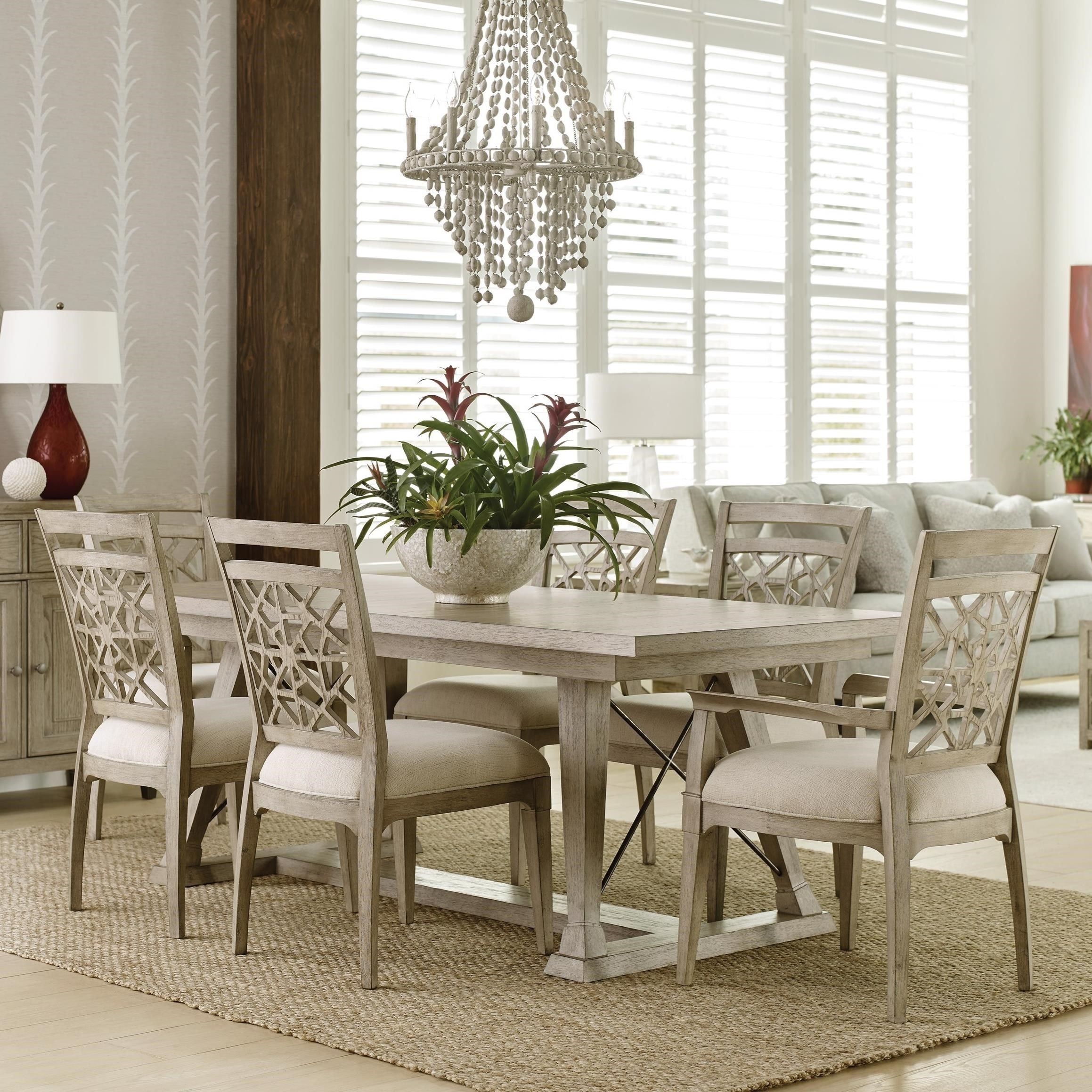 Vista 7 Piece Dining Set With Removable Leaves By American Drew At Hudson S Furniture Dining Room Sets Furniture Suburban Furniture