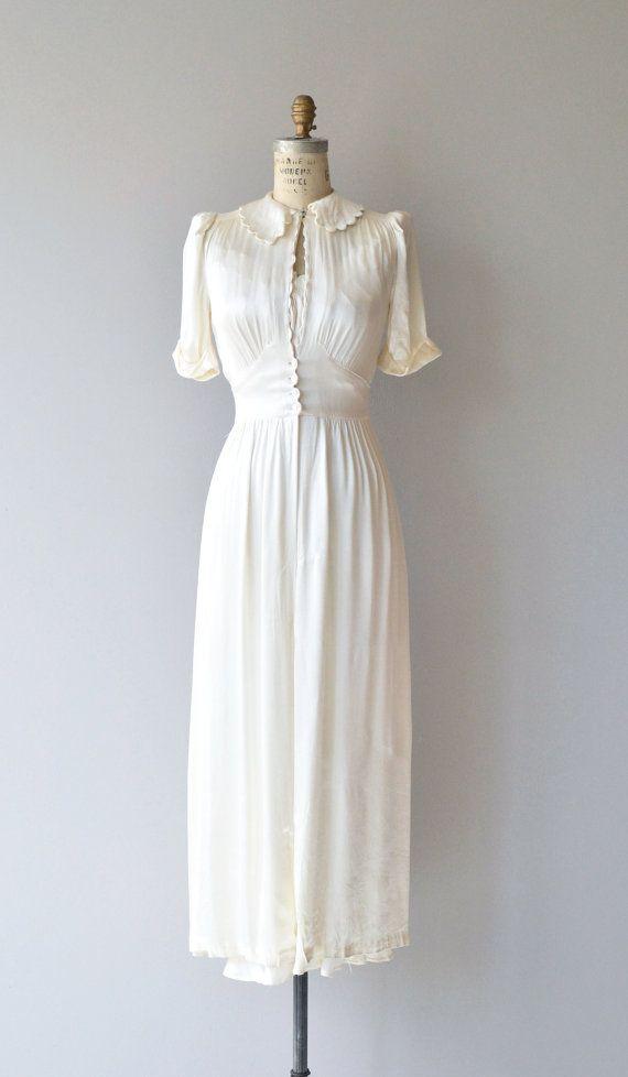 Moonbeam Peignoir Set Vintage 30s Peignoir Set 1930s Silk