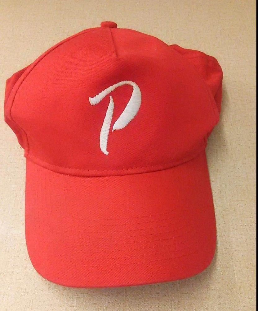 VTG Augusta Sportswear Hat Red Letter P Snapback Baseball Cap   AugustaSportswear  BaseballCap 3ef014fe6efb