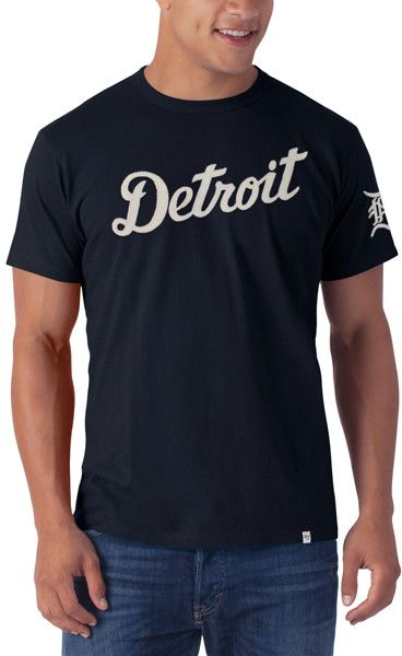 sports shoes 40a26 fffd9 Detroit Tigers Men's 47 Brand Navy Fieldhouse Tee T-Shirt ...