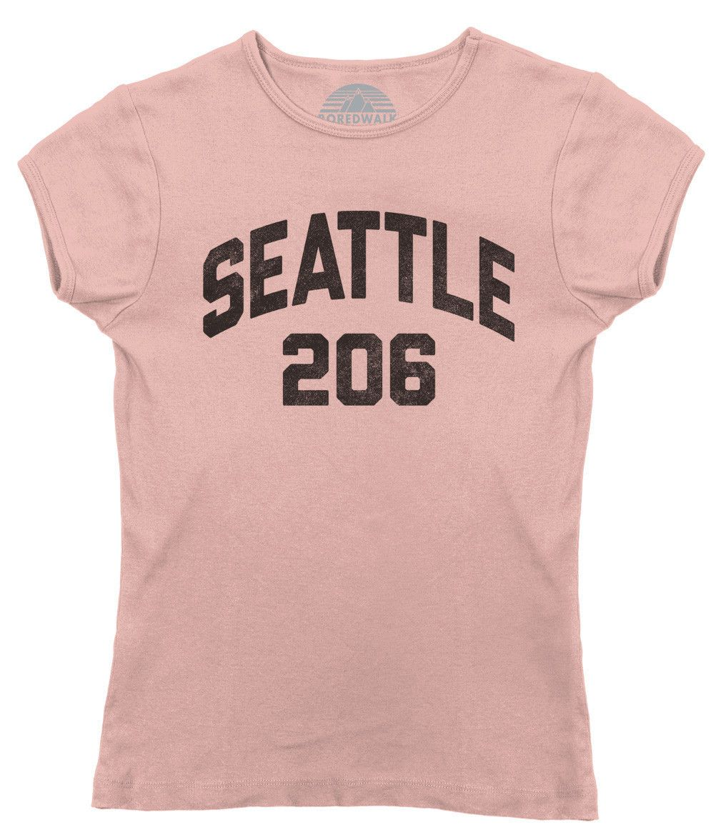 Womens Seattle Area Code TShirt Area Codes And Products - 206 area code