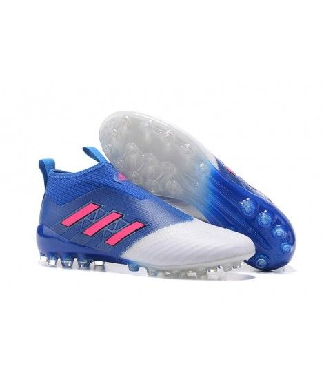 adidas ace 17 purecontrol ag cÉsped artificial botas de fútbol azul blanco rosa