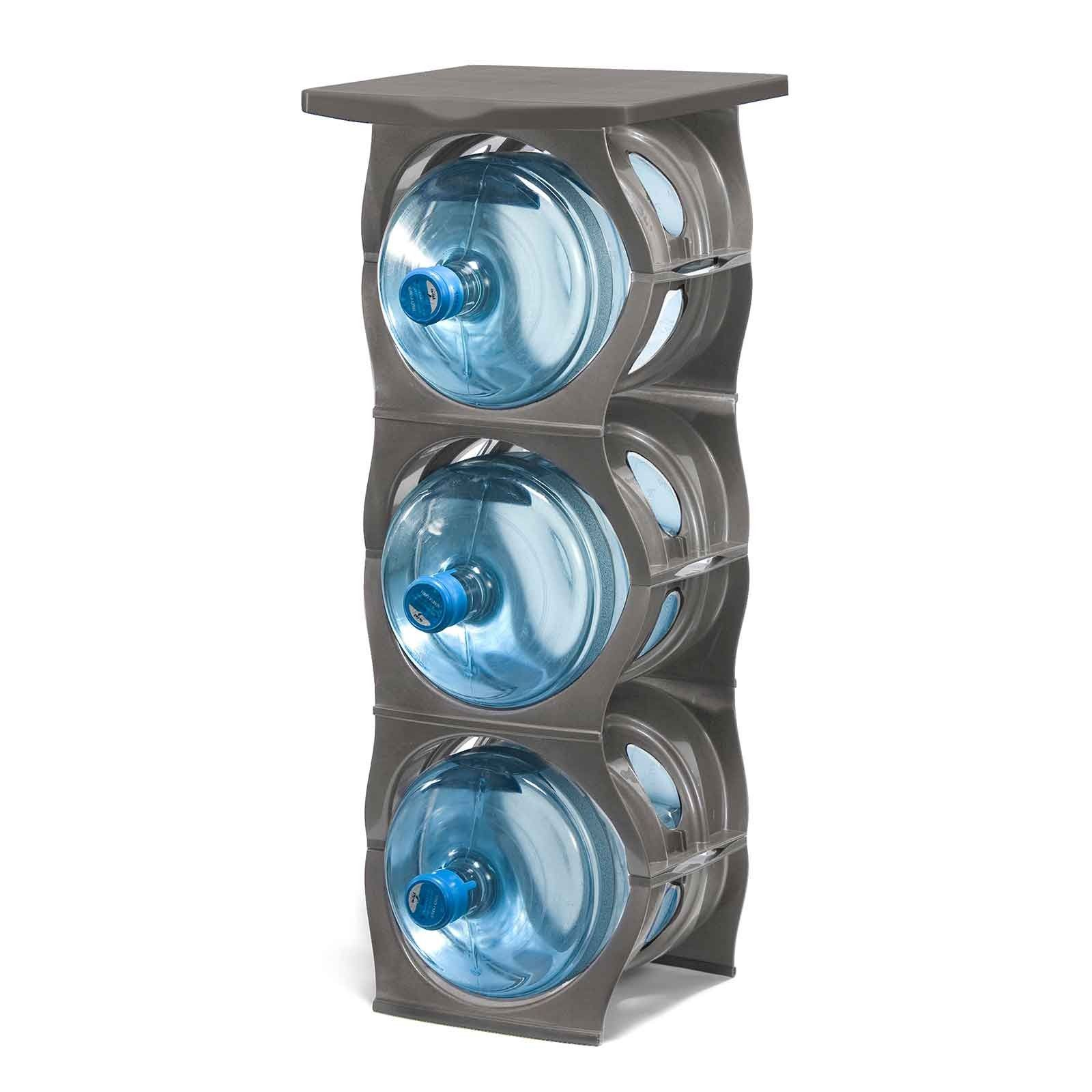 U Stack Water Bottle Storage Rack Holds Three 5 Gallon Bottles For Water Coolers 3 Bottle Water Bottle Storage Water Bottle Storage Rack Bottle Storage Rack