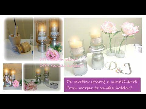 ▶ DIY!! Porta velas!! /Candle holder!! - YouTube