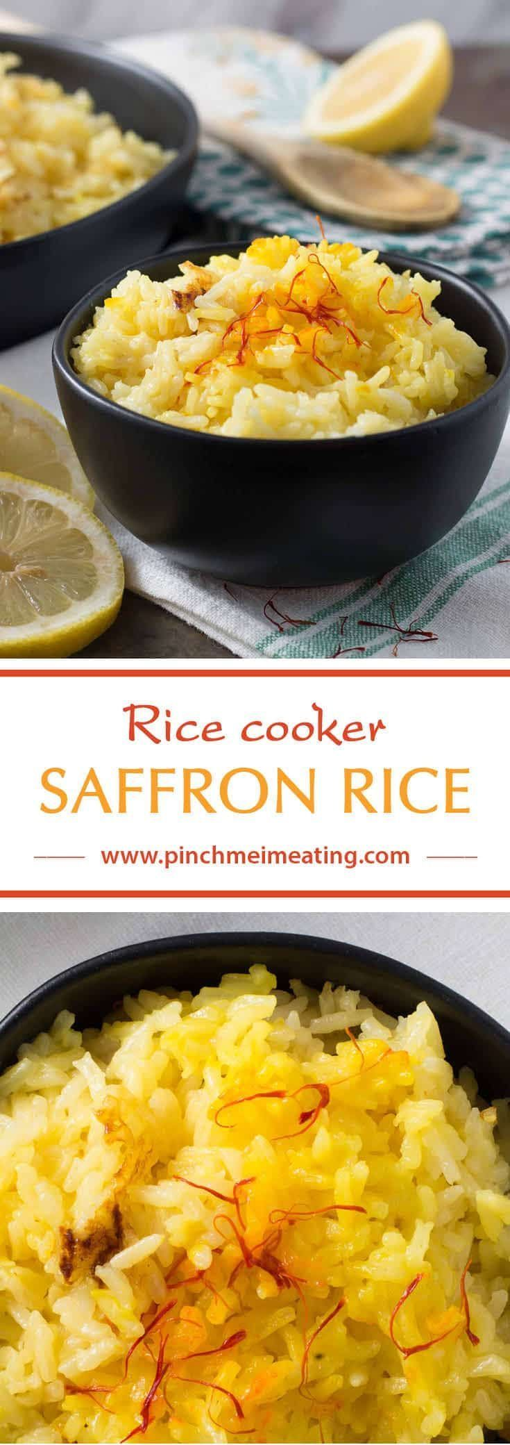 Rice Cooker Saffron Rice | Pinch me, I'm eating!