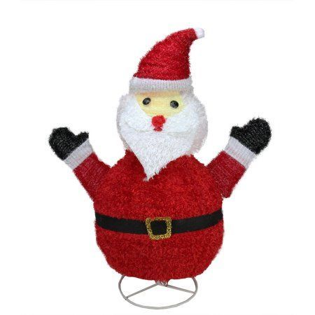 32 inch pre lit outdoor chenille santa claus christmas yard art walmart outdoor christmas