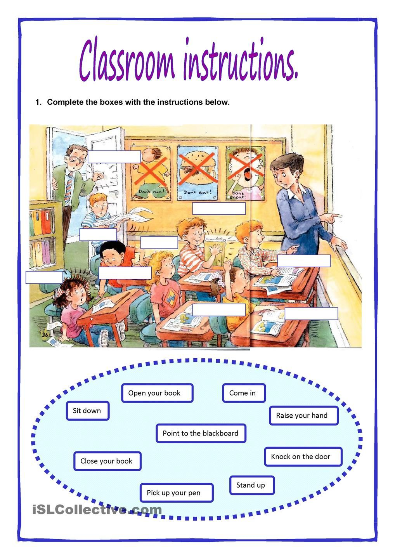 classroom instructions english. Black Bedroom Furniture Sets. Home Design Ideas