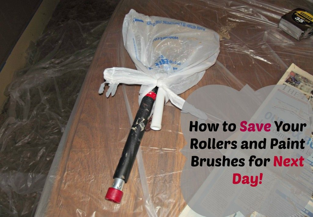How To Re Use Your Paint Brushes And Rollers For The Next Day Paint Brushes And Rollers Storing Paint Cleaning Walls