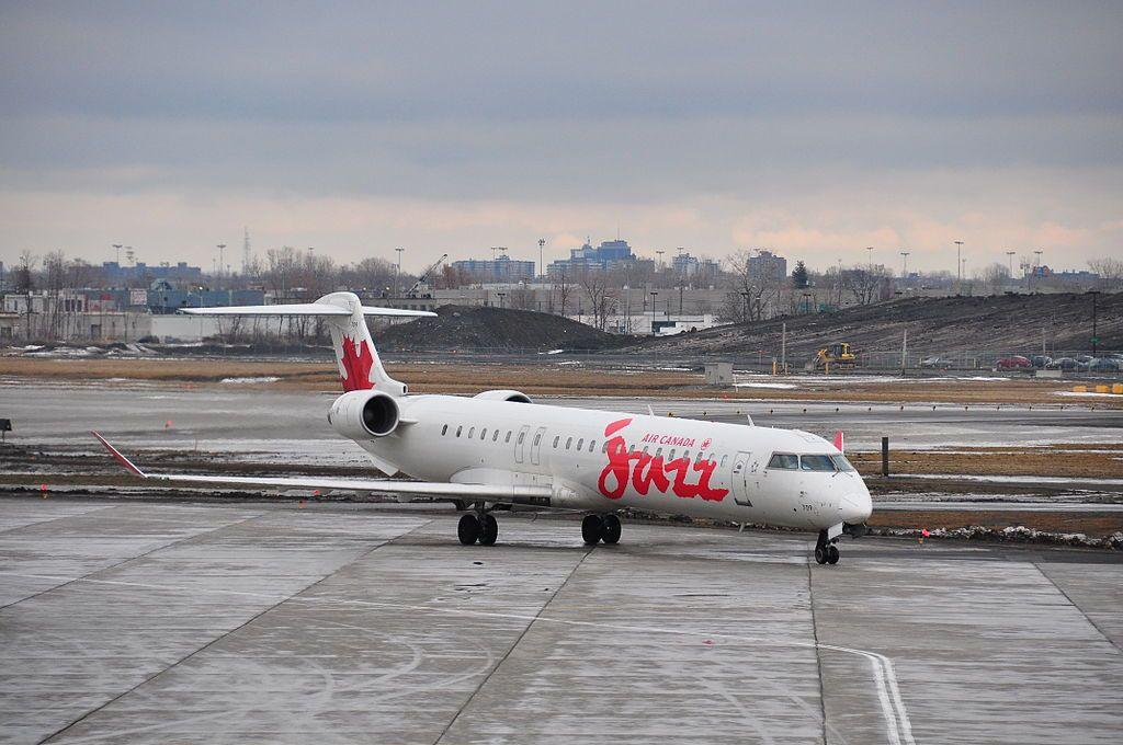 Bombardier CRJ900 of Air Canada Express C FTJZ Jazz at