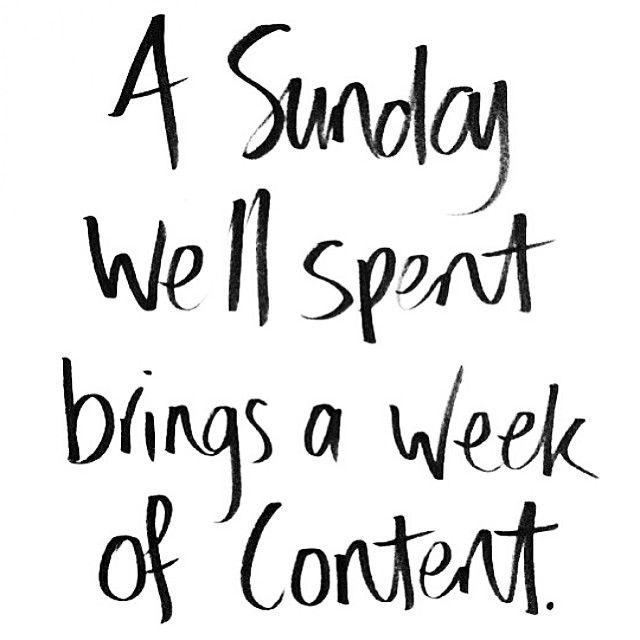 Happy Sunday! :)