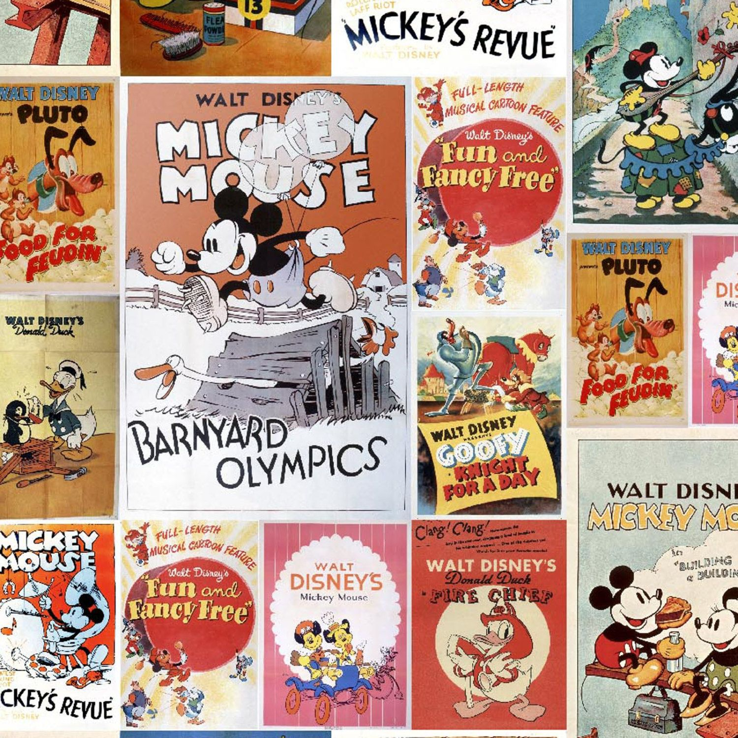 Pre Order Disney Mickey Minnie Comics Woven Cotton Fabric 1 Yard Vintage Disney Posters Disney Fabric Mickey Mouse And Friends