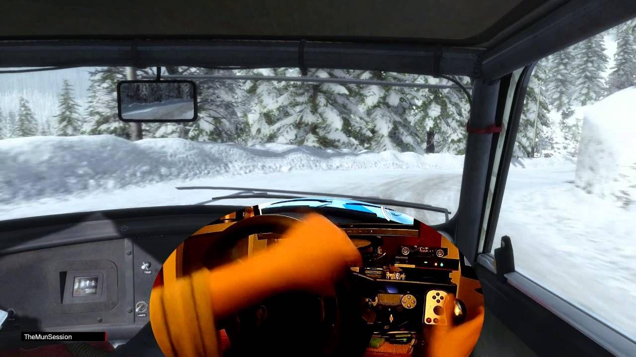 DiRT Rally Simulator MINI Cooper S cv Wheel in Action Prueba