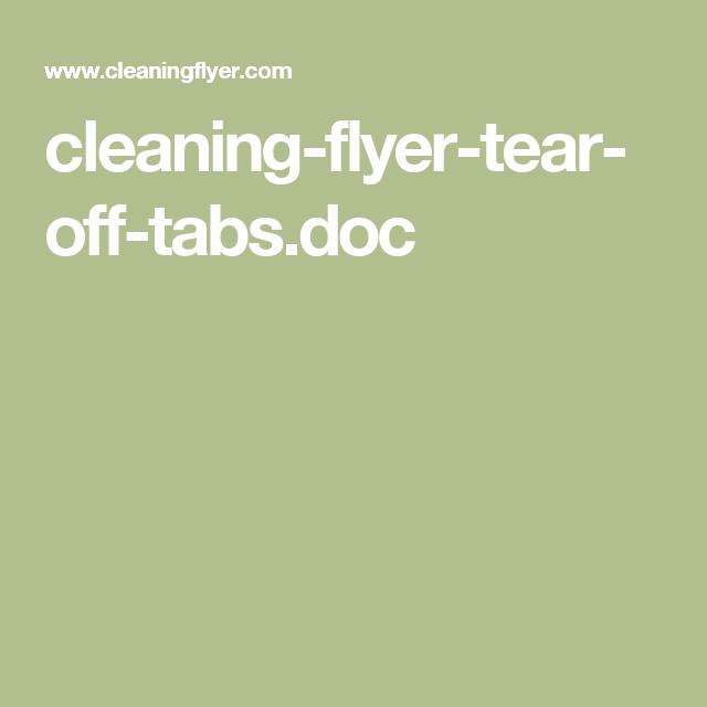 tear off tab flyer template