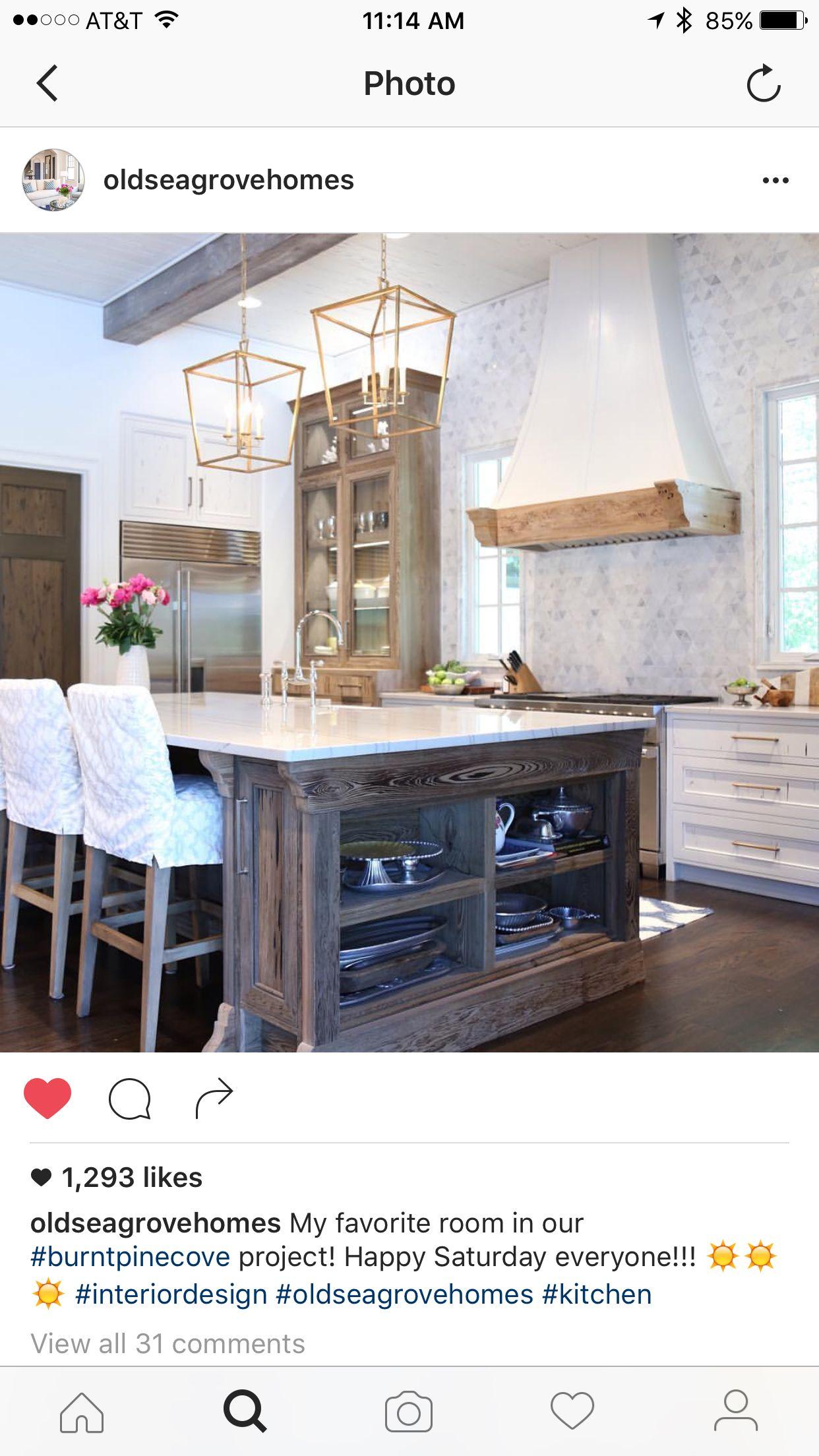 Download Wallpaper White Kitchen Dark Island Dark Floors